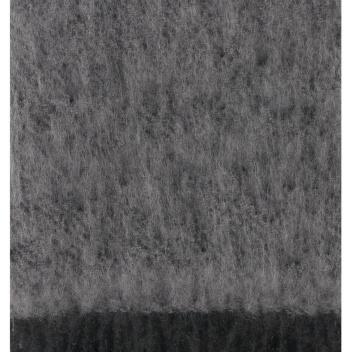 Koc Saaga Uni Mohair 130x180 Czarno-Szary