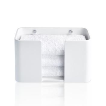Pojemnik ścienny na ręczniki DW STONE WPTB Biały Mat