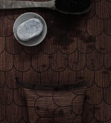 Poduszka do sauny PAANU 20x46 Brązowo-Czarna