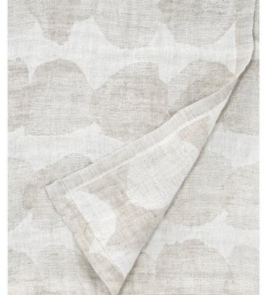 Ręcznik lniany kąpielowy SADE 95x180 Biało-Beżowy