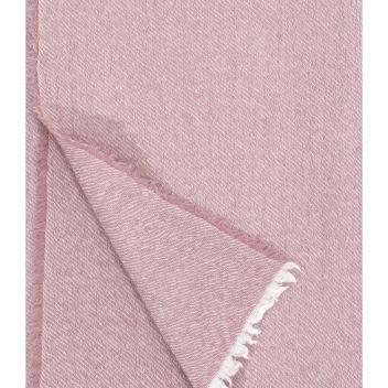 Koc-Narzuta z wełny SARA 140x180 Różany