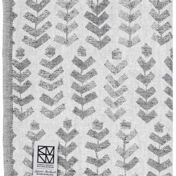Lniany ręcznik kąpielowy RUUSU X HVITTRASK 95x180 cm Szary