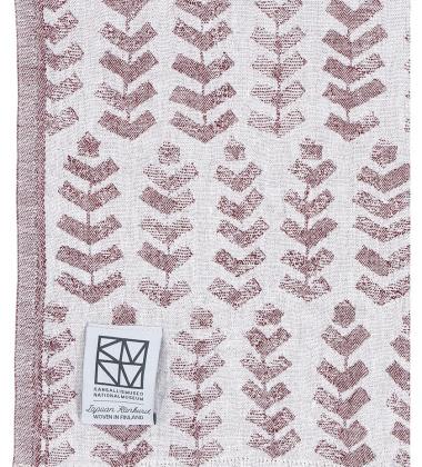 Lniany ręcznik kąpielowy RUUSU X HVITTRASK 95x180 cm Bordowy