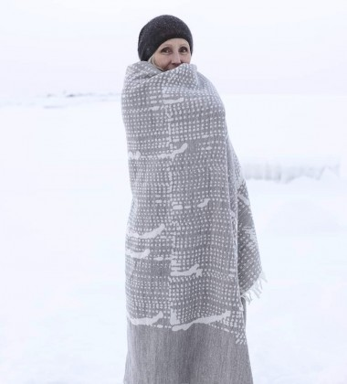 Koc wełniany MESI Wool 140x180 Beżowy