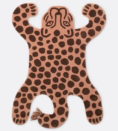 Dywanik dziecięcy SAFARI 160x118 LEOPARD Brązowy