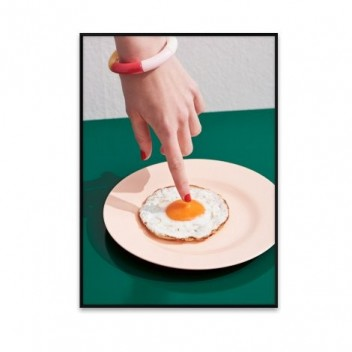Poster 50x70 FRIED EGGS by Henrik Bulow