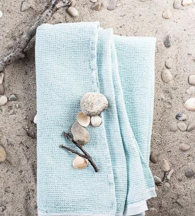 Ręcznik Terva 65x130 Biało-Turkusowy
