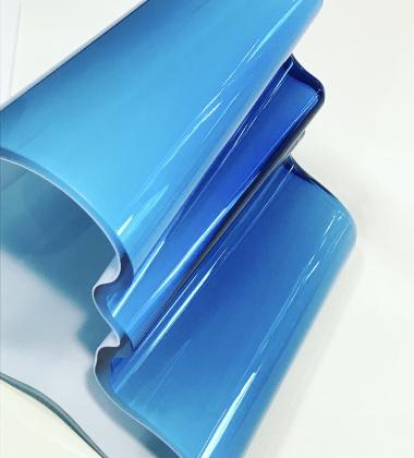 Wazon szklany Aalto Vase 160 mm Biało-Turkusowy