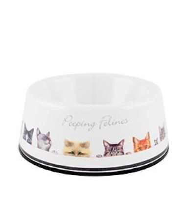 Miseczka mała dla kota z melaminy PEEPING FELINES Kotki
