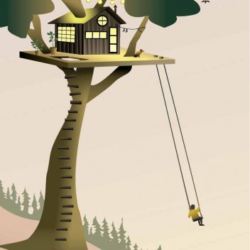Poster 30x40 TREE HOUSE By ViSSEVASSE