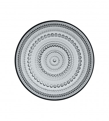 Talerz szklany Kastehelmi 17 cm Grey Szary