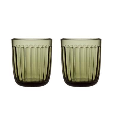 Komplet szklanek RAAMI Tumbler 26 cl Set 2  Moss Green Zielony