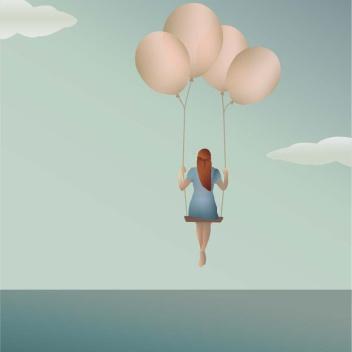 Poster 50x70 BALLOON DREAM By ViSSEVASSE