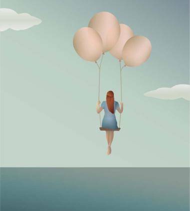 Poster 50x70 BALLON DREAM By ViSSEVASSE