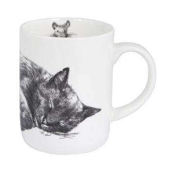 Kubek z porcelany z kotem 350 ml Casual Cats Sleeping