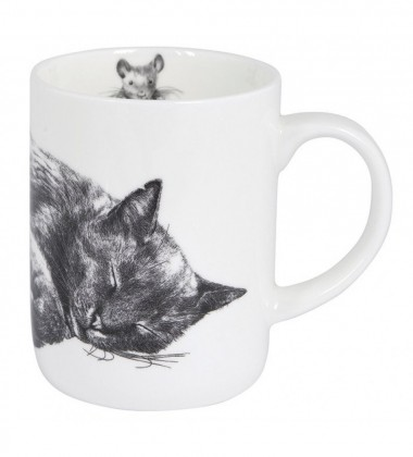 Kubek z porcelany z kotem 350 ml Casual Cats Sleeping
