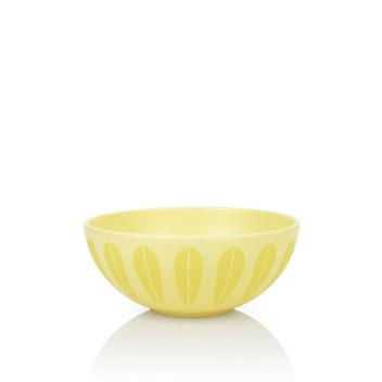Misa z porcelany Lotus 24 cm Żółta Matowa