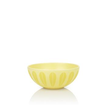 Miska z porcelany Lotus 21 cm Żółta Matowa
