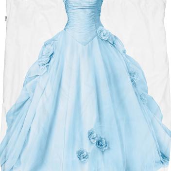Pościel bawełniana z księżniczką 140x200 PRINCESS BLUE