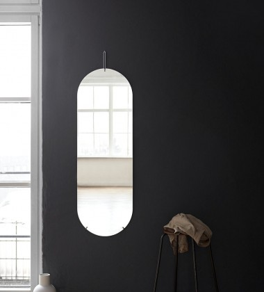 Lustro Ścienne TALL WALL MIRROR 133x44 cm Chrome