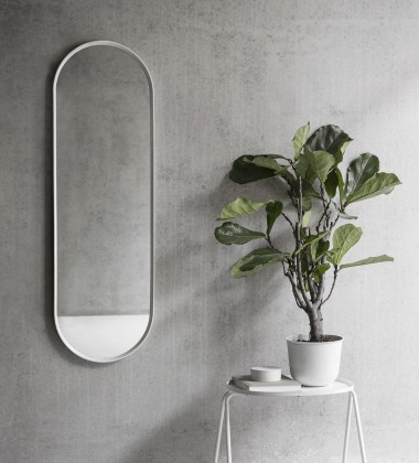 Lustro ścienne NORM WALL MIRROR OVAL 130x40 White