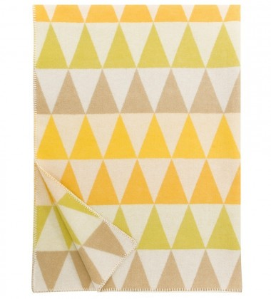Koc Harlekiini Wool 130x180 Żółty