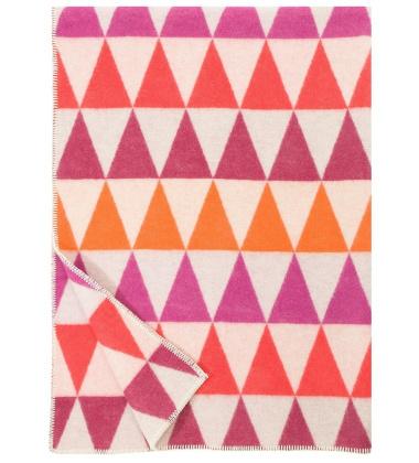 Koc Harlekiini Wool 130x180 Czerwono-Różowy