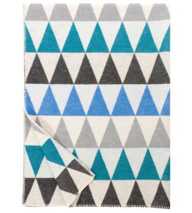 Koc Harlekiini Wool 130x180 Niebieski