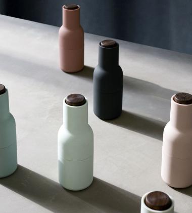 Komplet młynków Bottle Grinder Set Miętowy Orzech