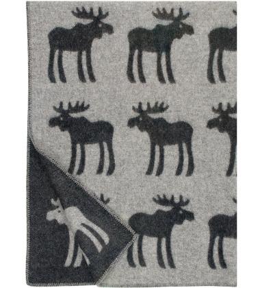 Koc wełniany HIRVI Wool 130x180 Czarny