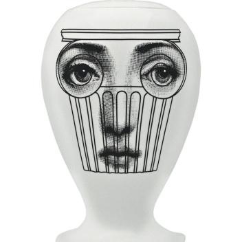 Waza z porcelany CAPITELLO Fornasetti Biała