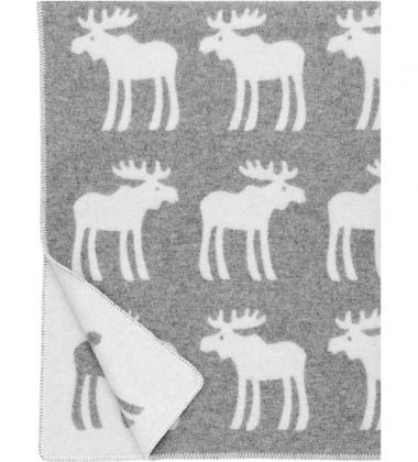 Koc wełniany HIRVI Wool 130x180 Szary