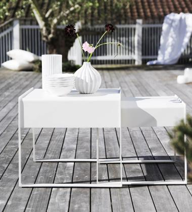 Zestaw stolików kawowych Chill-out side tables Set 2 Biały
