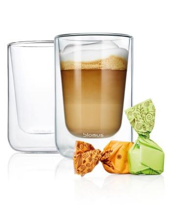 NERO Zestaw Szklanek do Cappuccino-Herbaty 250 ml Set 2