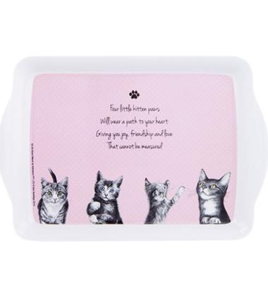 Taca z melaminy 18x12 It's All About Meow Kotki Różowe