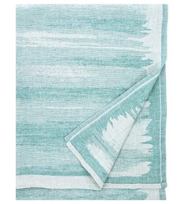 Lniany ręcznik kąpielowy JOKI 95x180 cm Turkusowy