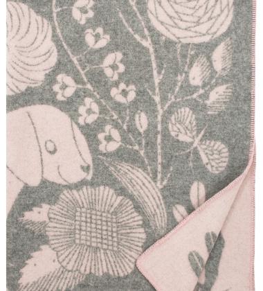 Koc Koira Ja Kissa Wool 130x180 Różowy