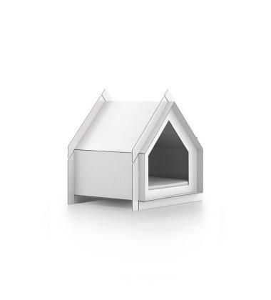 Domek Buda dla psa 53x38 Touffu XS Biała