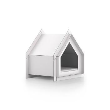 Domek Buda dla psa 65x54 Touffu S Biała