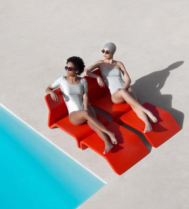 Fotel CLIP Armchair 74x55x57 Czerwony