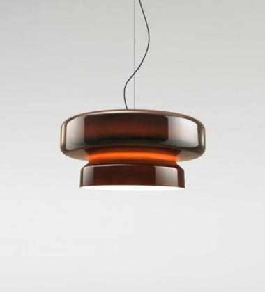 Lampa wisząca szklana 84 cm BOHEMIA Pomarańczowa