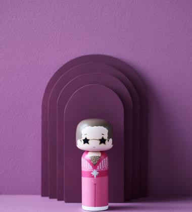 Laleczka Kokeshi ELTON 14,5 cm Pink Outfit