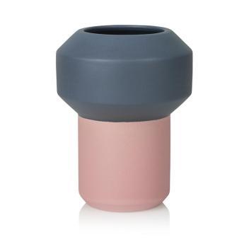 Wazon ceramiczny FUMARIO 20,5 cm Dark Grey-Pink