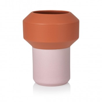 Wazon ceramiczny FUMARIO 20,5 cm Orange-Pink