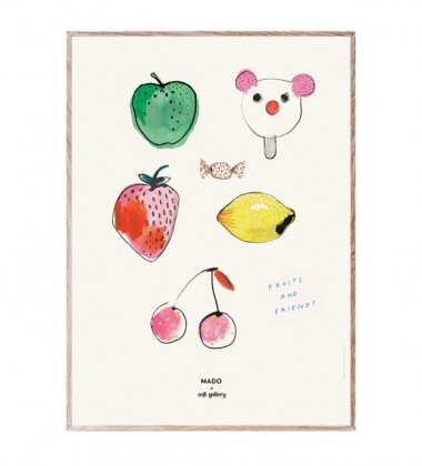 Poster 50x70 FRUITS and FRIENDS by Mado