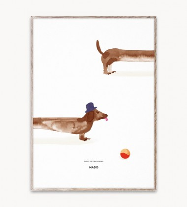 Poster 50x70 DOUG THE DACHSHUND by Mado