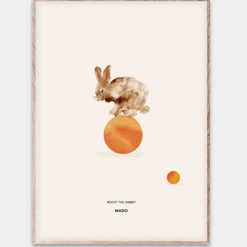 Poster 50x70 ROCKY THE RABBIT by Mado