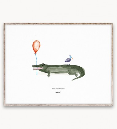 Poster 30x40 COCO THE CROCODILE by Mado