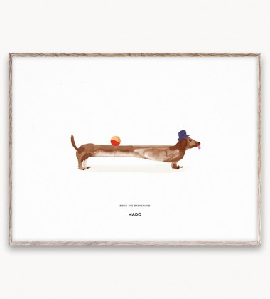 Poster 30x40 DOUG THE DACHSHUND by Mado