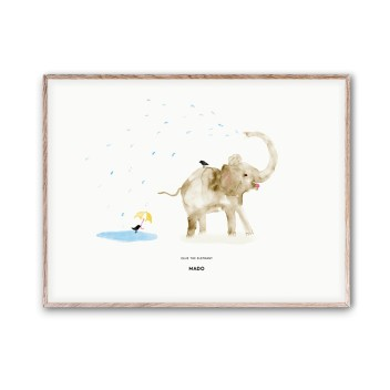 Poster 30x40 ELLIE THE ELEPHANT by Mado